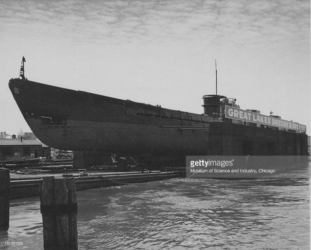 Реставрационные работы на U-505.