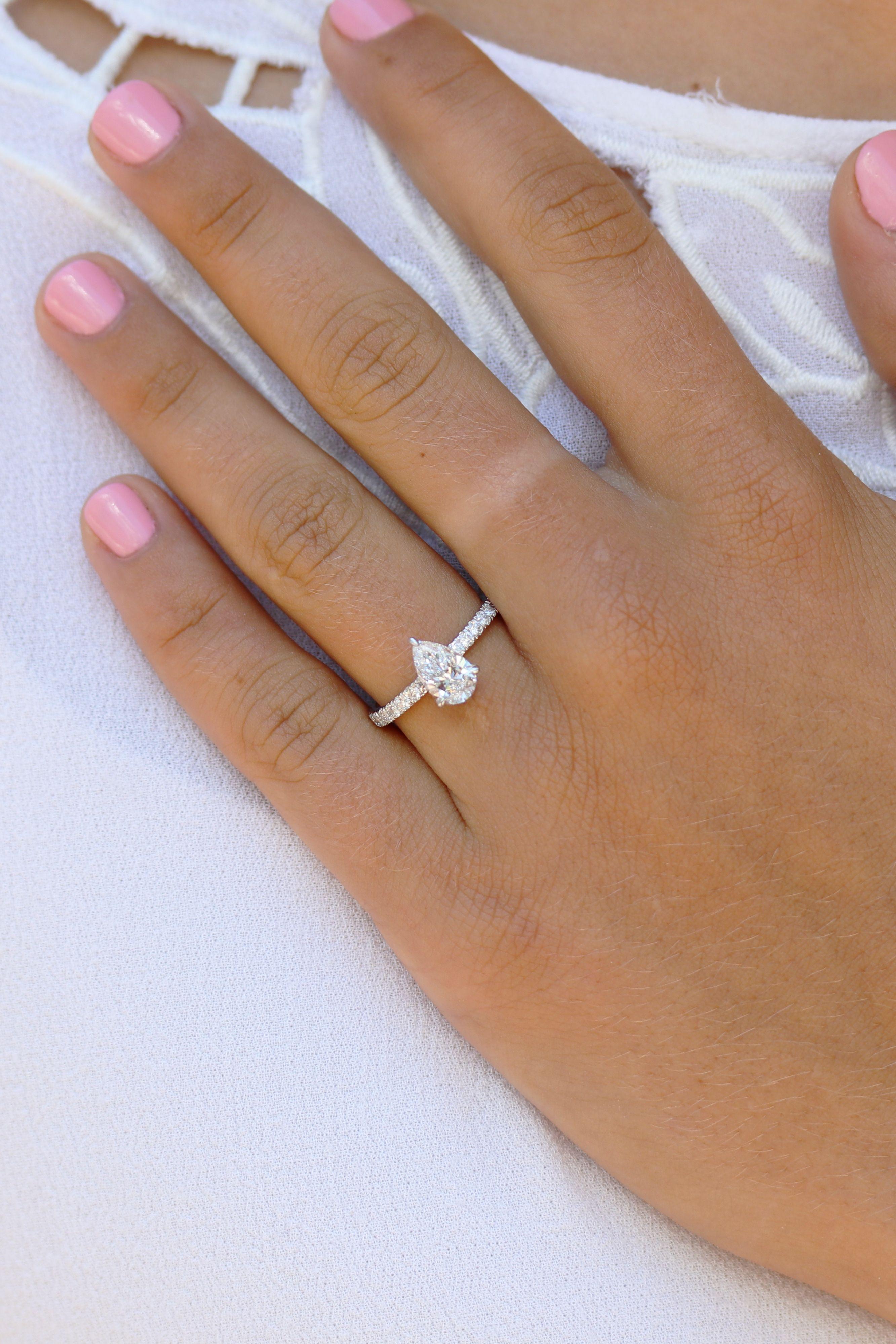 Diamond Band Pear Shaped Lab Diamond Engagement Ring Bring Your Vision To Lif Diamond Band Engagement Ring Lab Diamond Engagement Ring Diamond Engagement Band