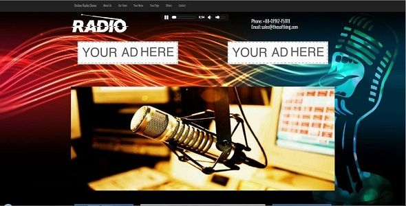 Streamo - Online Radio And Tv Streaming CMS   Code Script