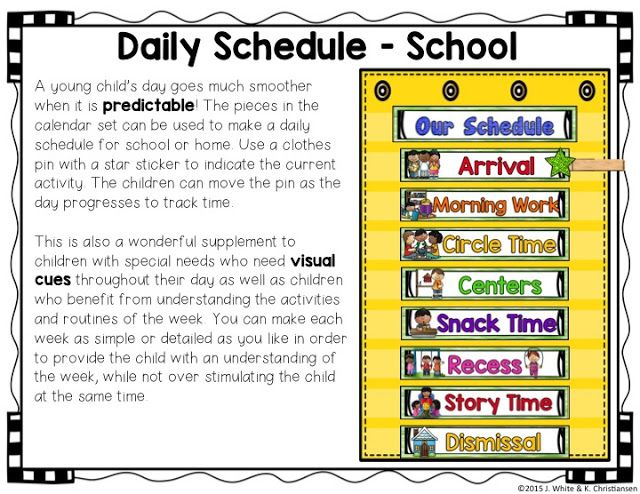 Kindergarten Calendar Time Routine : Circle time visual schedules calendar and
