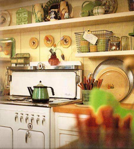 Rustic Kitchen Design  Rustico  Pinterest  Stove Vintage Enchanting Vintage Kitchens Designs Decorating Design