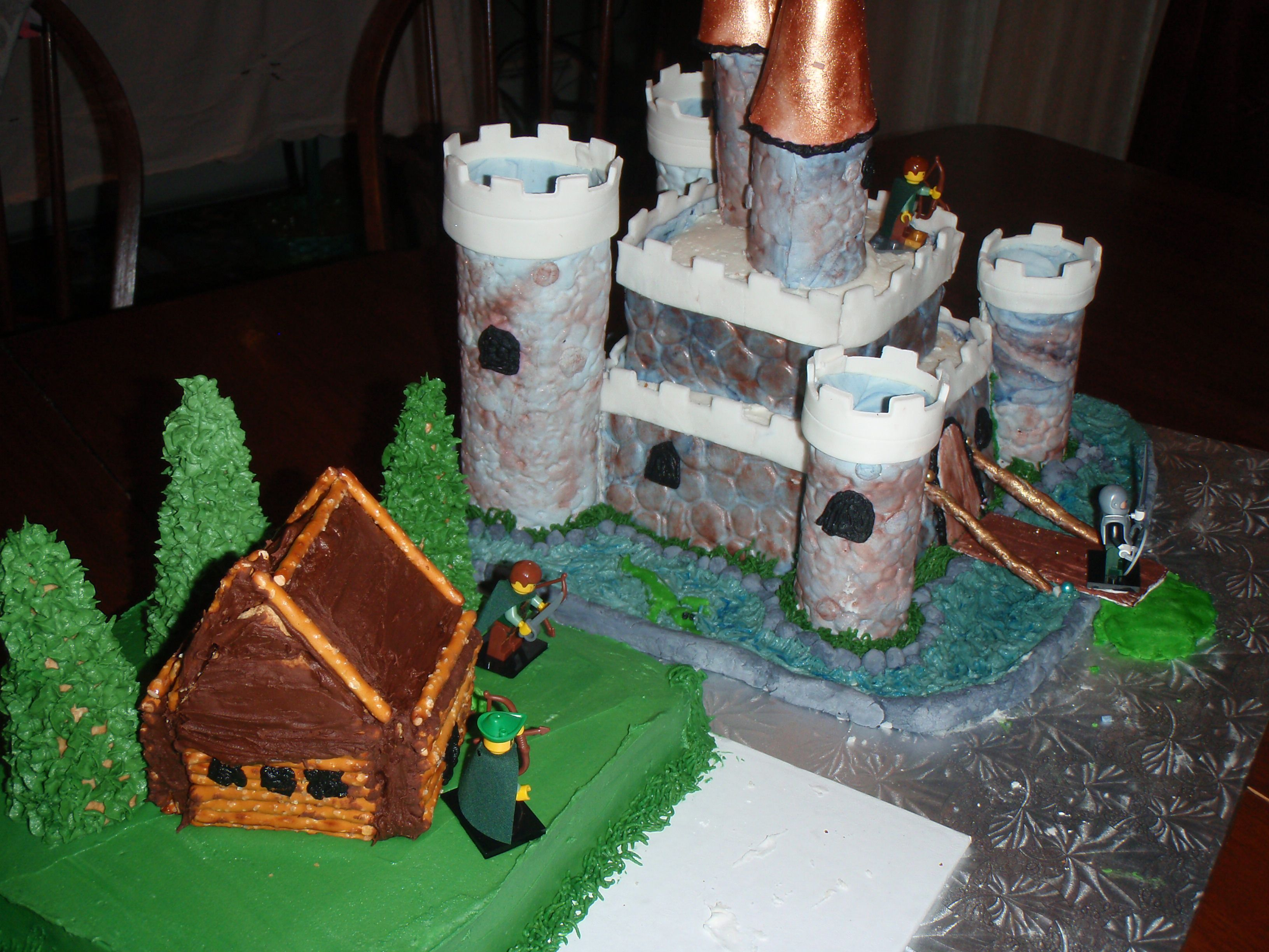 Castle Cake  Ranger's Apprentice  This Cake Was For My Son's Birthday I  Made