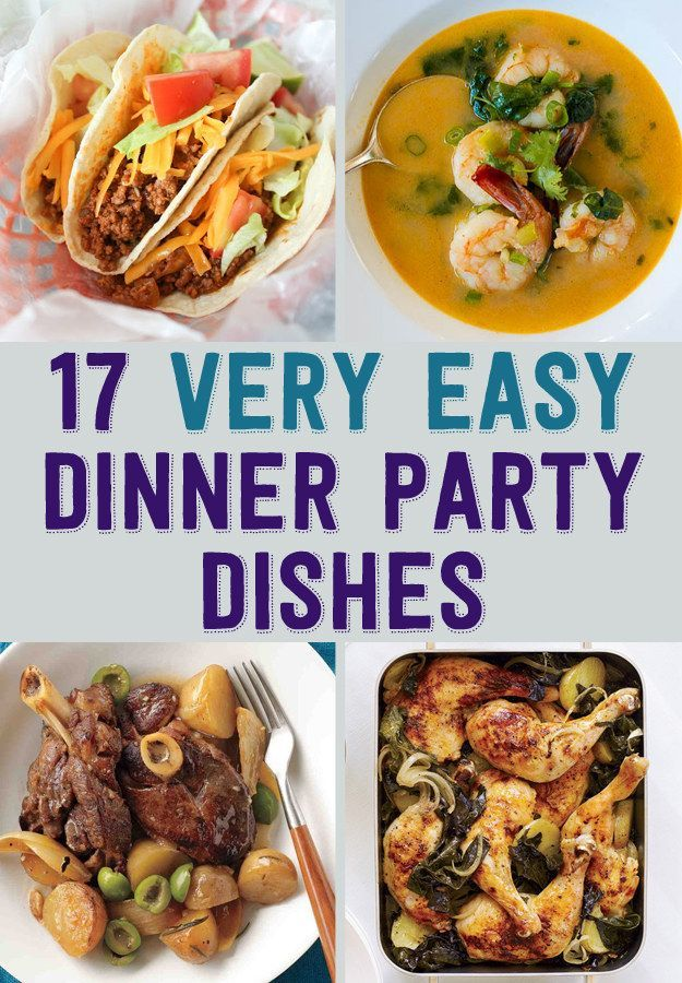 dinner party food ideas easy