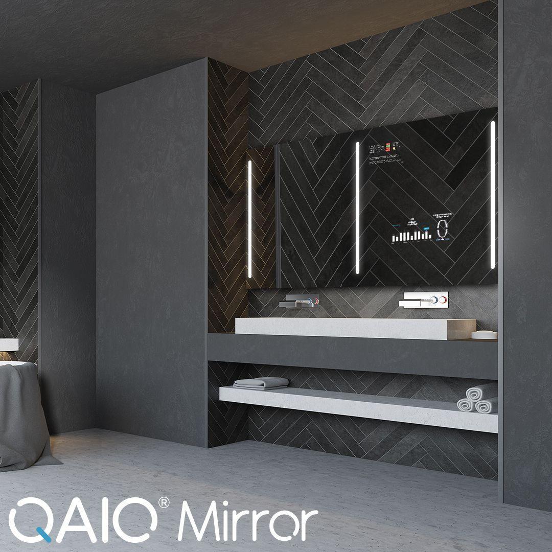 Seien Sie Zukunftssicher Mit Qaio Smart Spiegel Der Qaio Smart Spiegel Ist Mit Intelligenten Funktionen Ausgestattet Bathroom Mirror Elegant Mirrors