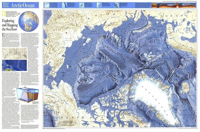 Ng arctic ocean floor 1990 items similar to ng arctic ocean floor arcti oceantique world maps old world map illustration digital image ancient maps 88 on etsy gumiabroncs Images