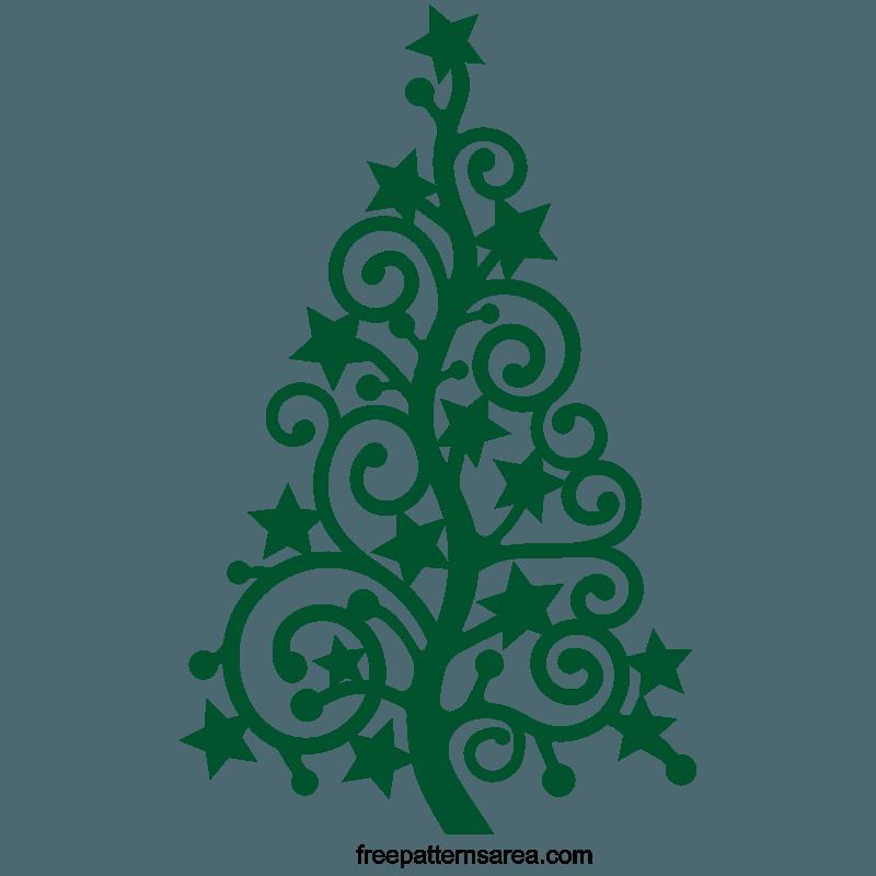 Stylized Christmas Xmas Tree Silhouette Vector Art Free Christmas Tree Stencil Christmas Tree Silhouette Christmas Svg Files Free