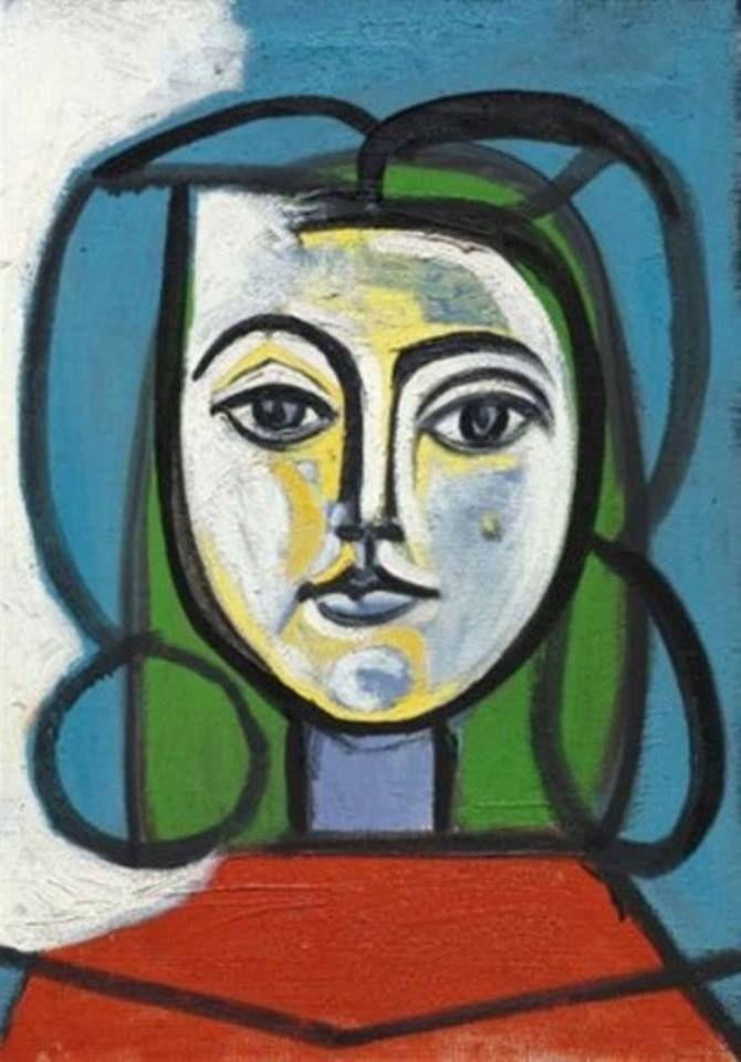 Pablo Picasso - Tête de femme (Portrait de Françoise), 1946 #arte ...
