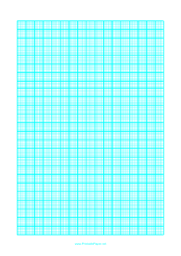 This ASized Graph Paper Has One Cyan Line Every Mm With A Heavy