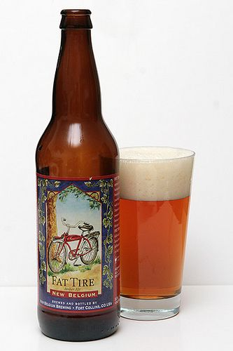 New Belgium Brewing Fat Tire Amber Ale Thirsty Beer Drinks Ale