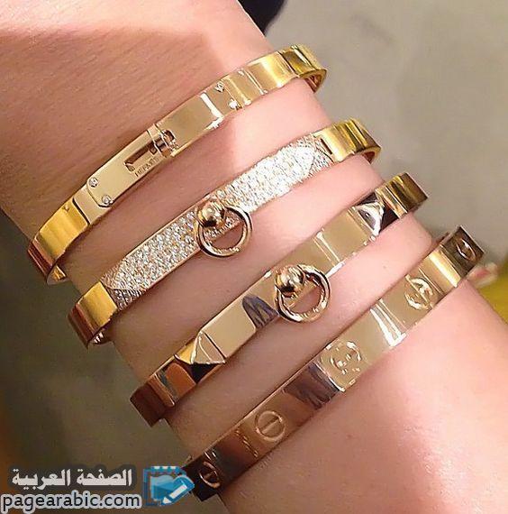 اساور كارتير رائعه وجميلة لكل الجنسين الرجالي والنسائي ونضع لكم اليوم اسعار الاساور من ماركات عال Stackable Bangle Bracelets Cartier Jewelry Bracelet Designs
