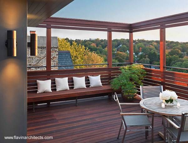 Marcos De Madera En La Terraza Rooftop Terrace Design Rooftop Design Modern Patio Design
