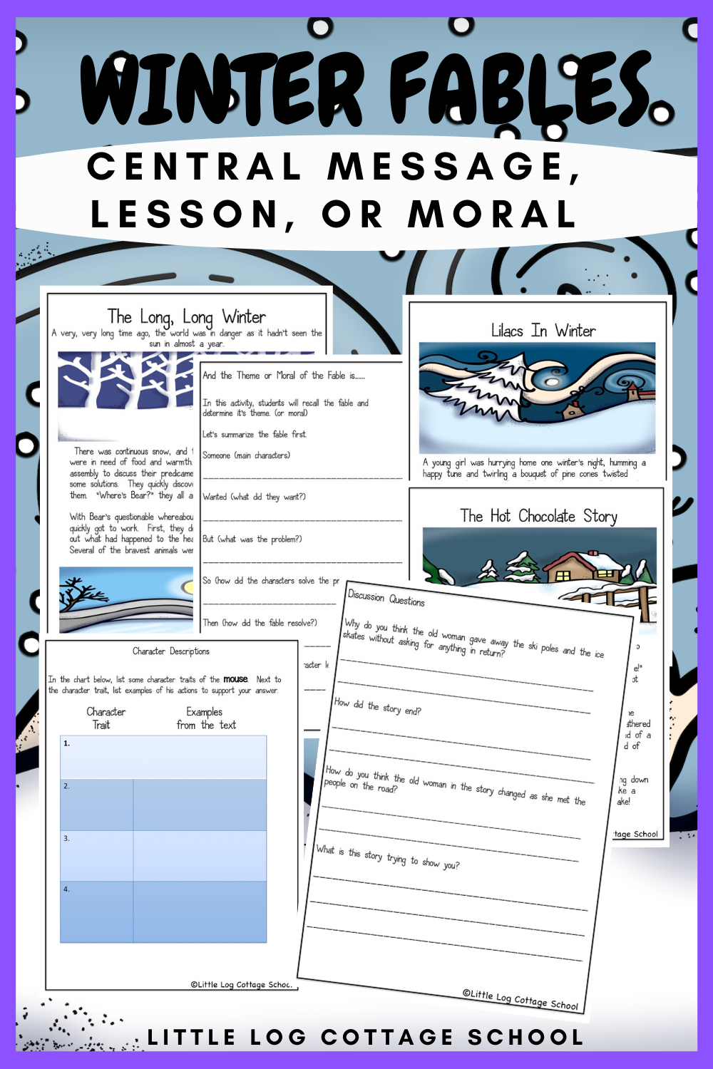 Folktales For Winter Central Message Lesson Or Moral Fable Lessons Central Message Winter Reading Activities [ 1500 x 1000 Pixel ]