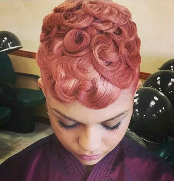 Love pin curls but i want them cold black and shiny hairdos to love pin curls but i want them cold black and shiny urmus Images