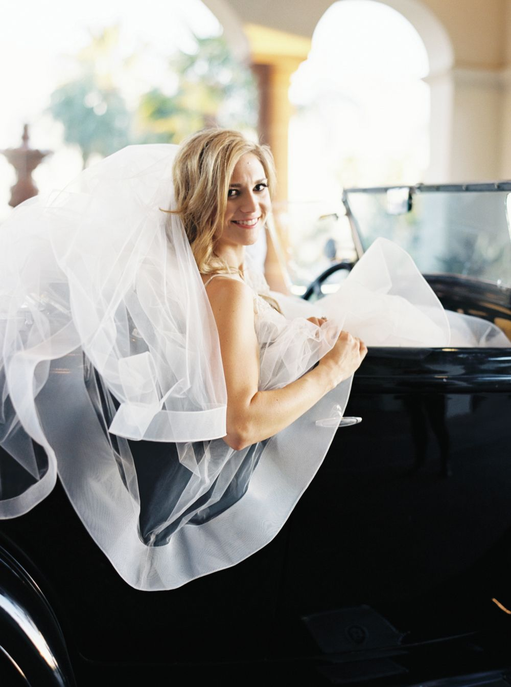 Traditional bluehued wedding in california veil vaulting and wedding