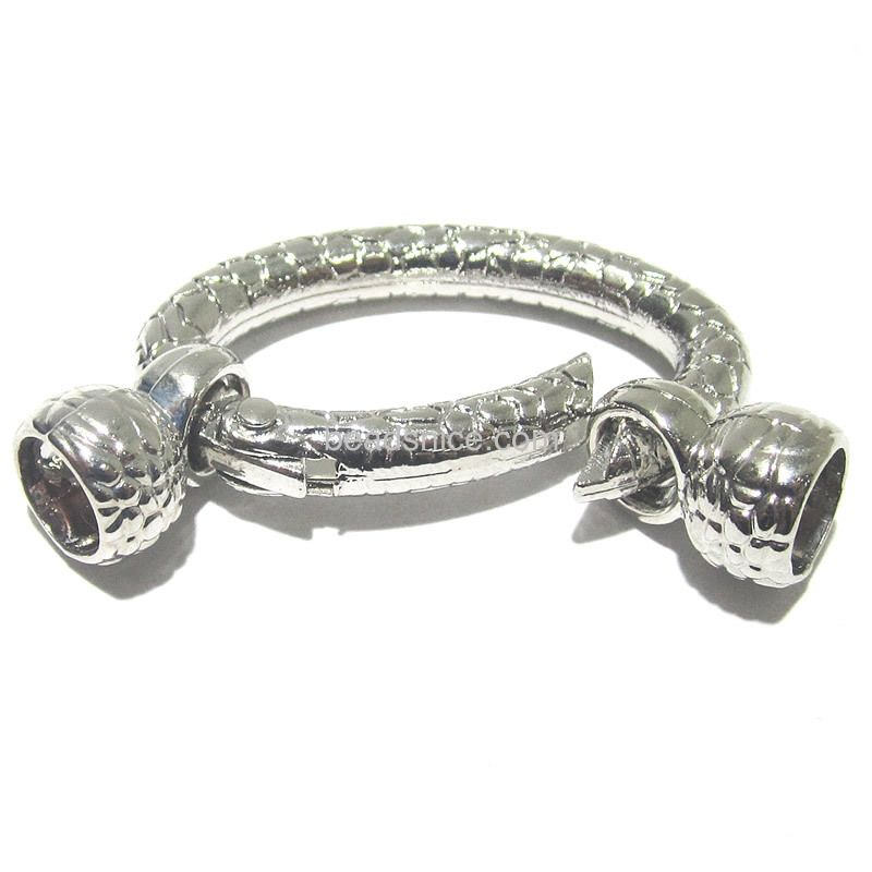 Spring leaver bar clasp jewelry makingsupplies wholesale oval ring shape