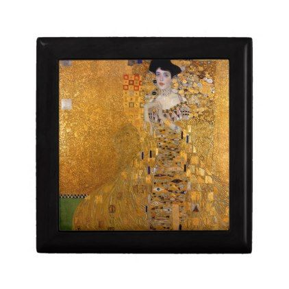 Gustav Klimt - Adele Bloch-Bauer I Painting Keepsake Box - glam gifts unique diy