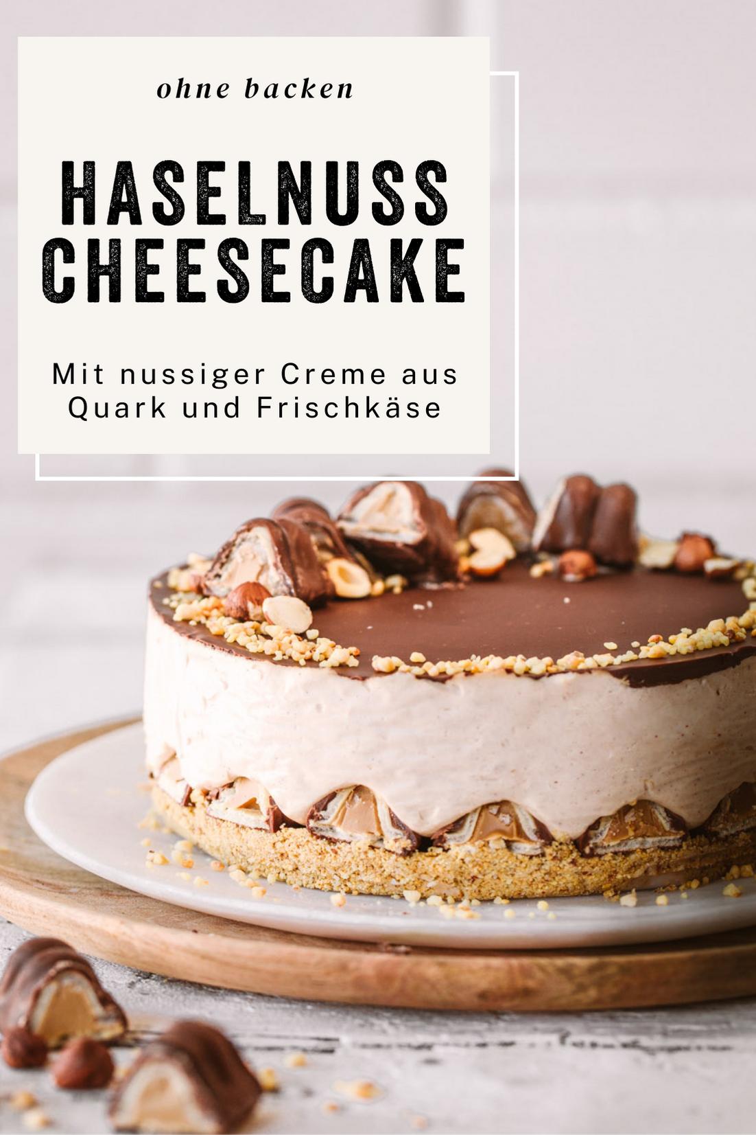 Ganz einfach: Haselnuss Cheesecake ohne Backen