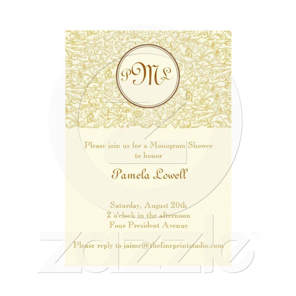 Gold Julep Scroll Invitation