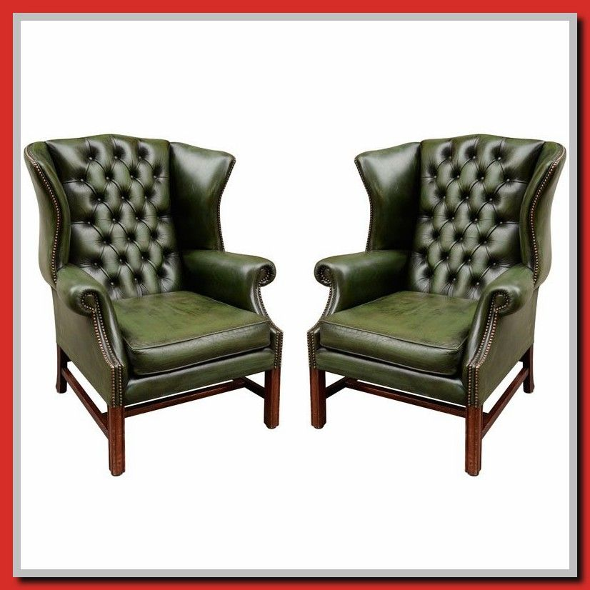 64 Reference Of Leather Sofa Green Chair In 2020 Green Leather