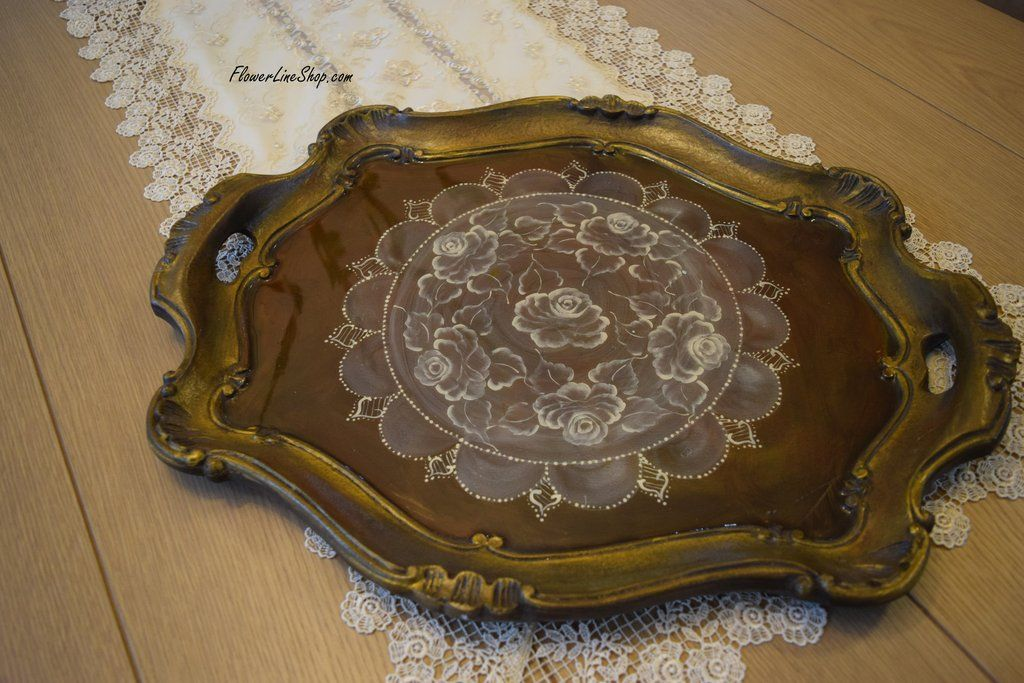 Antique Roses Tray