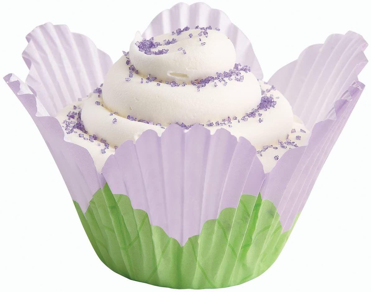 Wilton Lavender Petal Baking Cups, 24 Count