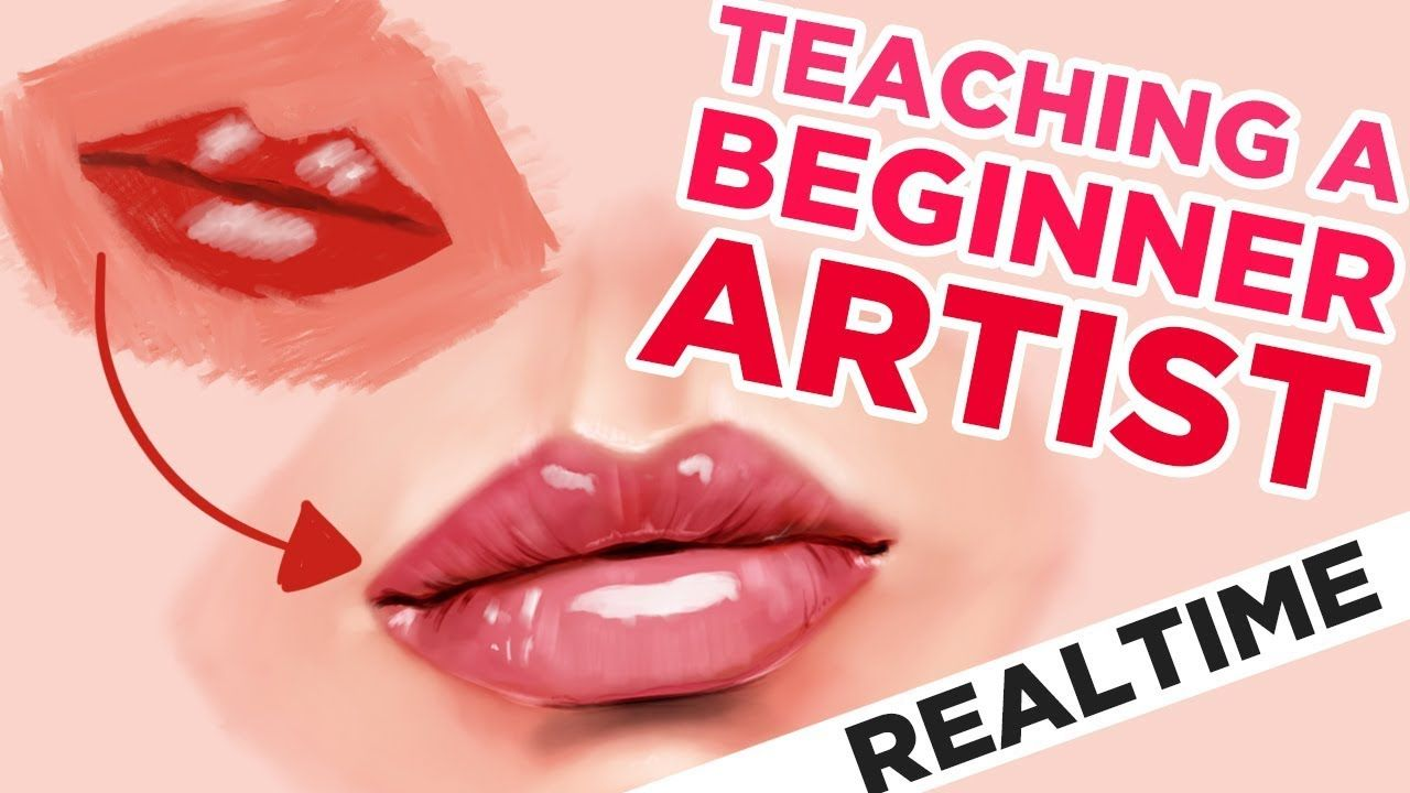 Teaching A Beginner How To Draw Lips Realtime In Procreate On