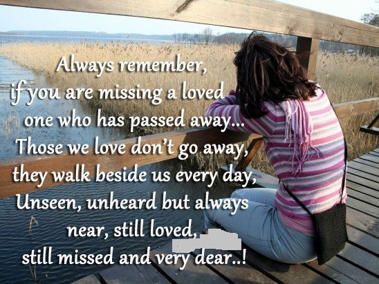 When A Loved One Passes Away