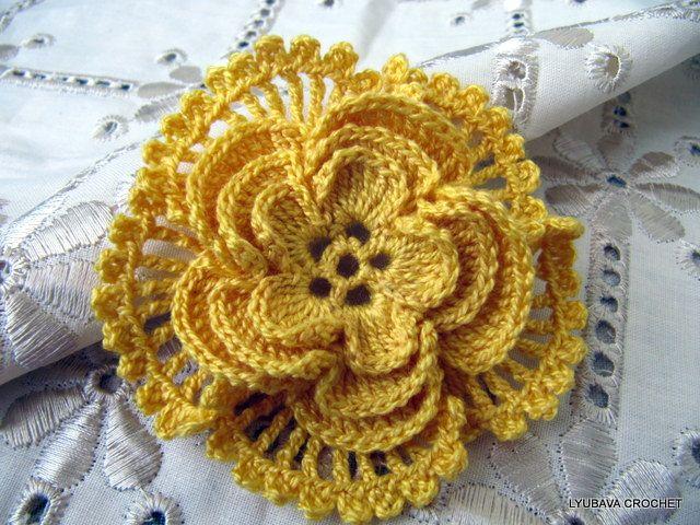 Pdf File Beautiful Crochet Flower 4 Layer Crochet Flower Pattern