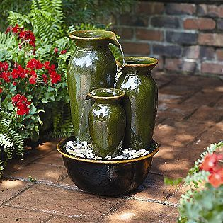 Merveilleux 3 Pot Waterfall · Outdoor Water FountainsGarden ...