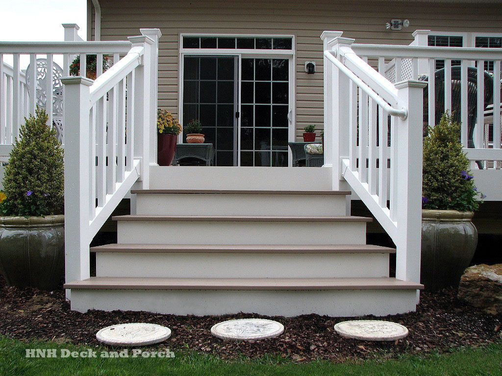 Need A Set Of Steps Off Of You Deck? Check Out Our Pictures Of Different