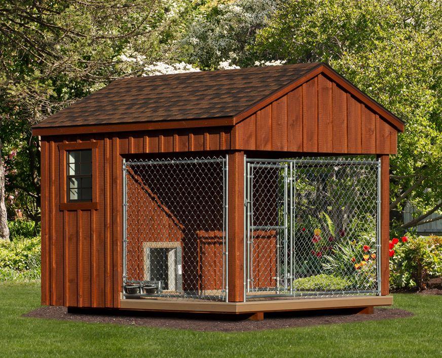8x10 prefab dog kennel not a kit delivered fully