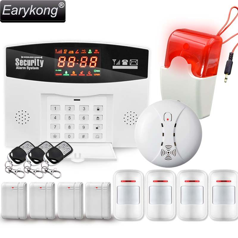 44 00 Usd Hot Selling English Russian Spanish Wireless Gsm Alarm System 433mhz Home Burglar Security Alarm Syst Gsm Alarm System Alarm System Security Alarm