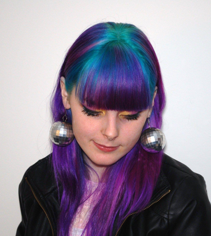 Purple fuschia green and blue hair dye hair colours i want