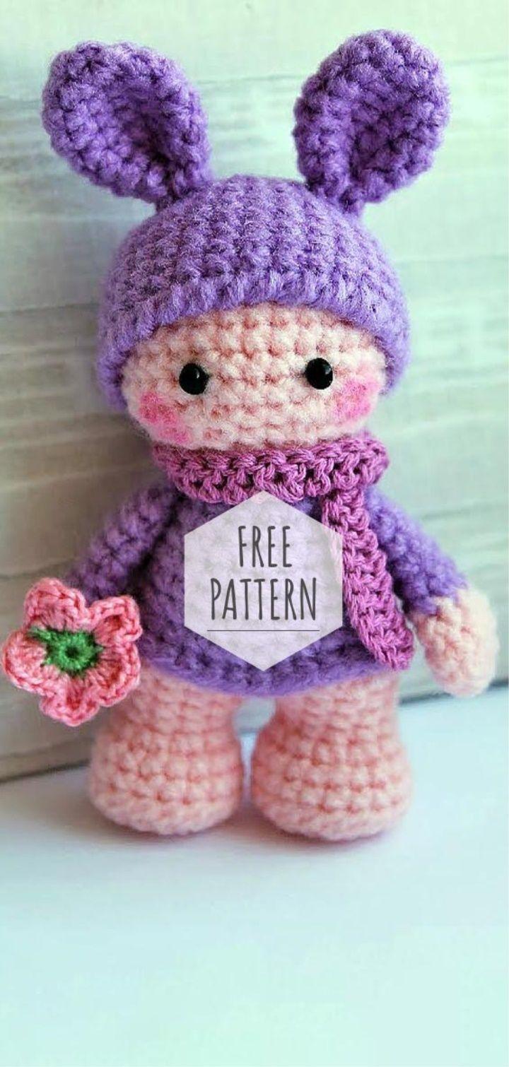 Amigurumi Lovely Doll Free Pattern #crochettoysanddolls