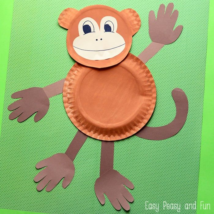 Paper Plate Monkey - Fun Paper Plate Crafts for Kids  sc 1 st  Pinterest & Paper Plate Monkey - Fun Paper Plate Crafts for Kids   Monkey ...