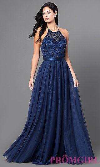 Long Embroidered Halter Top Dress by Elizabeth K | Eye See U ...