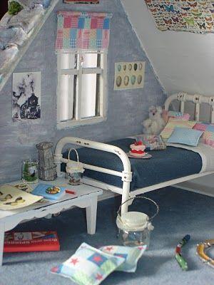 Caroline's lovely little boy's bedroom in her shabby chic cottage.