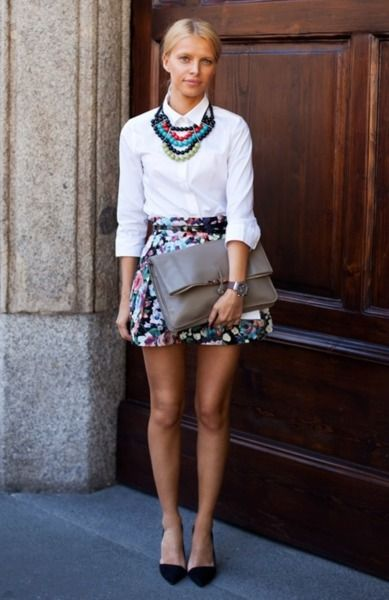 multi color paired with white