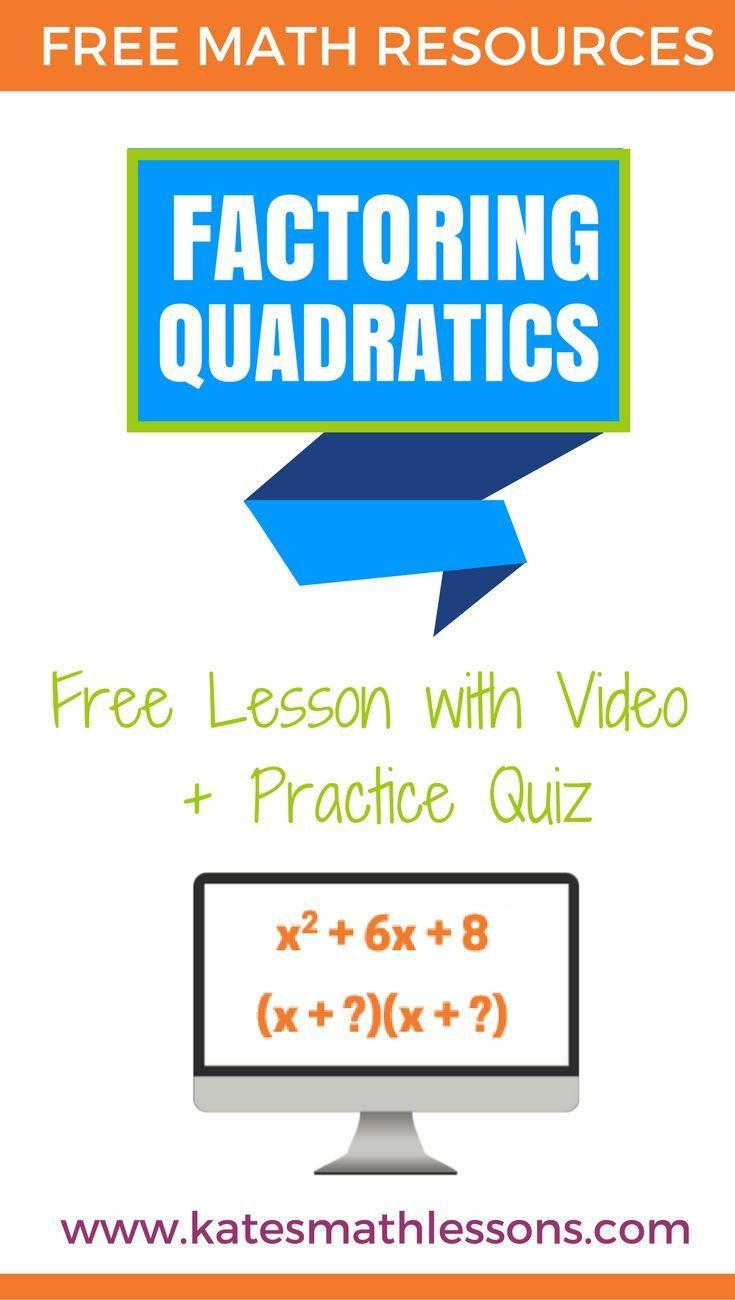 Factoring Quadratics Intro | Algebra lessons, Algebra and Middle ...