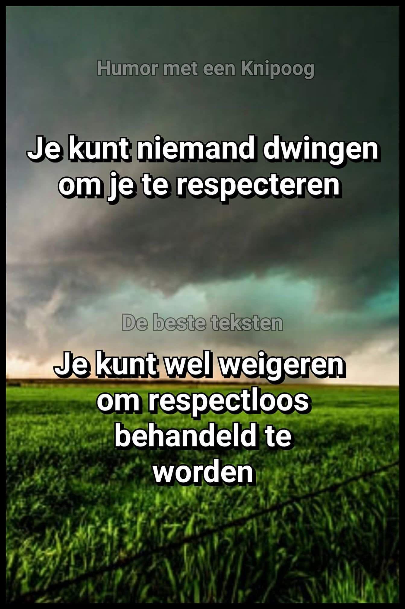 Citaten Nederlandse Literatuur : Je kunt niemand dwingen je te respecteren ware woorden citaten
