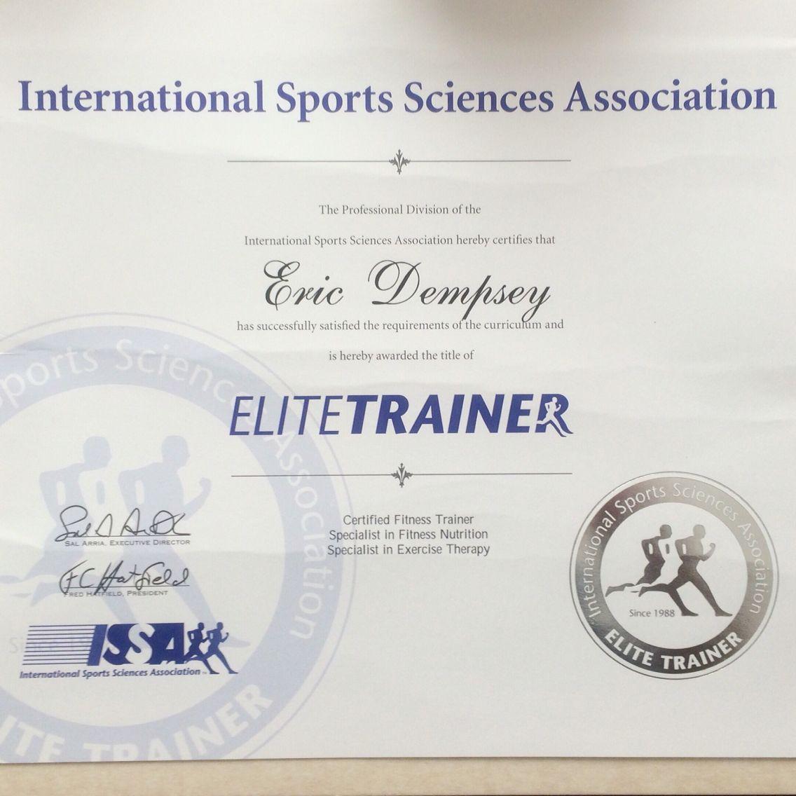 Issa elite trainer complete this designation is earned by issa elite trainer complete this designation is earned by completing the issa certified fitness trainer xflitez Image collections