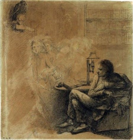 The Raven Dante Gabriel Rossetti Edgar Allan Poe Illustration