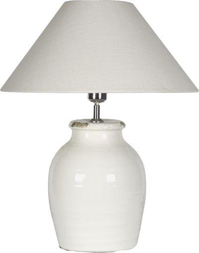 Neptune corinium 42cm lamp base with olive warm white 20 shade
