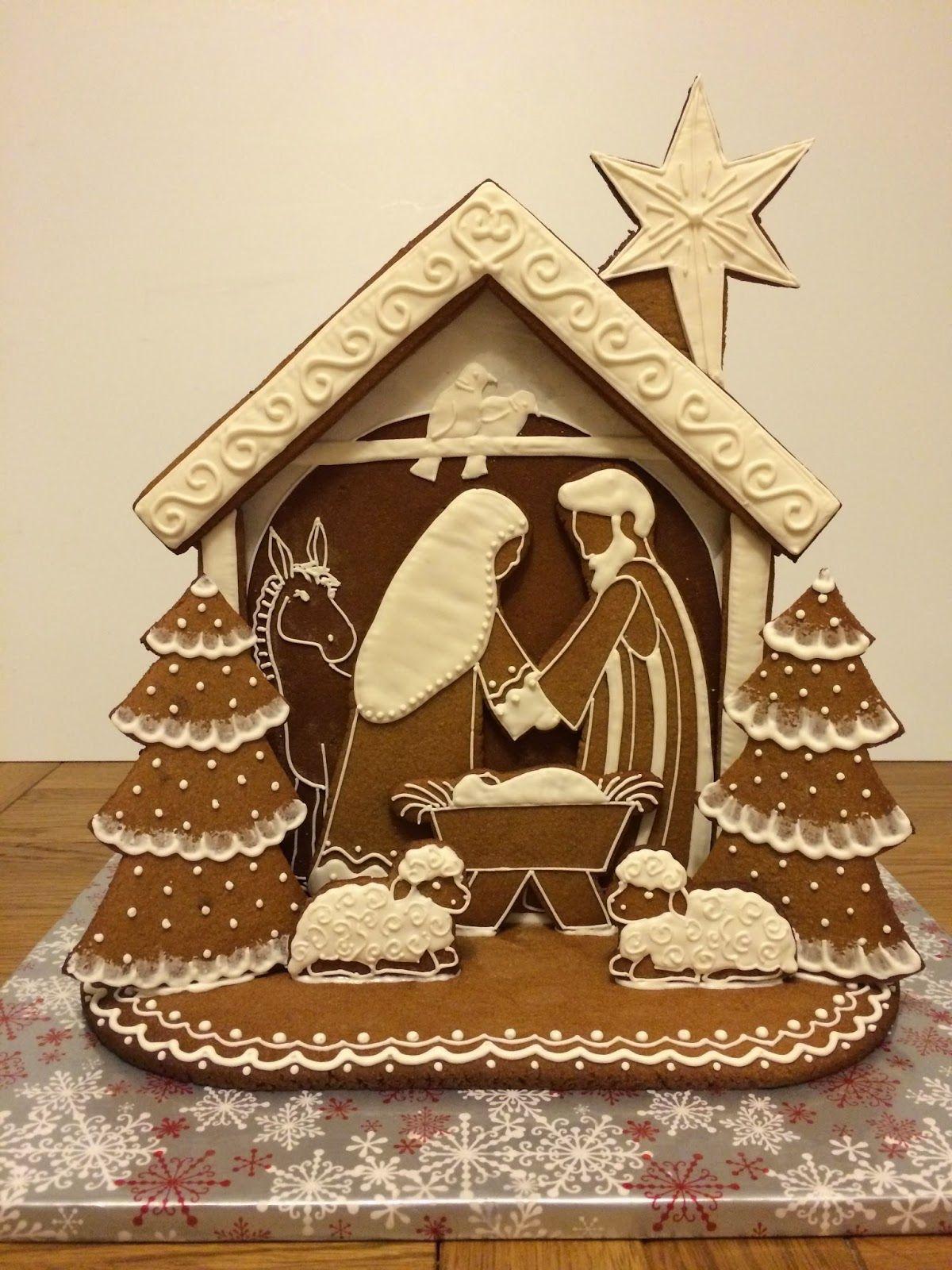 Elaine's Sweet Life: Gingerbread Nativity {Tutorial} | Christmas gingerbread house, Gingerbread, Gingerbread house cookies
