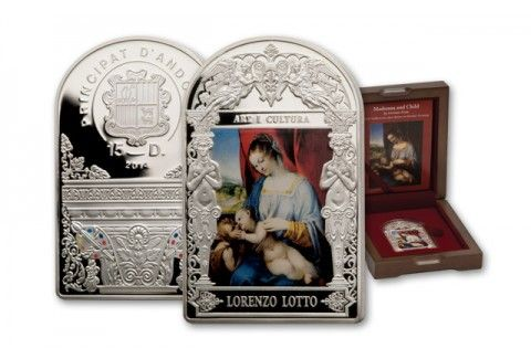 2014 Andorra 50 Gram Silver Lotto Madonna Proof