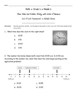 Third Grade Math Assessment Test Prep Place Value And Problem Solving Engage Ny Math Assessment Third Grade Third Grade Math