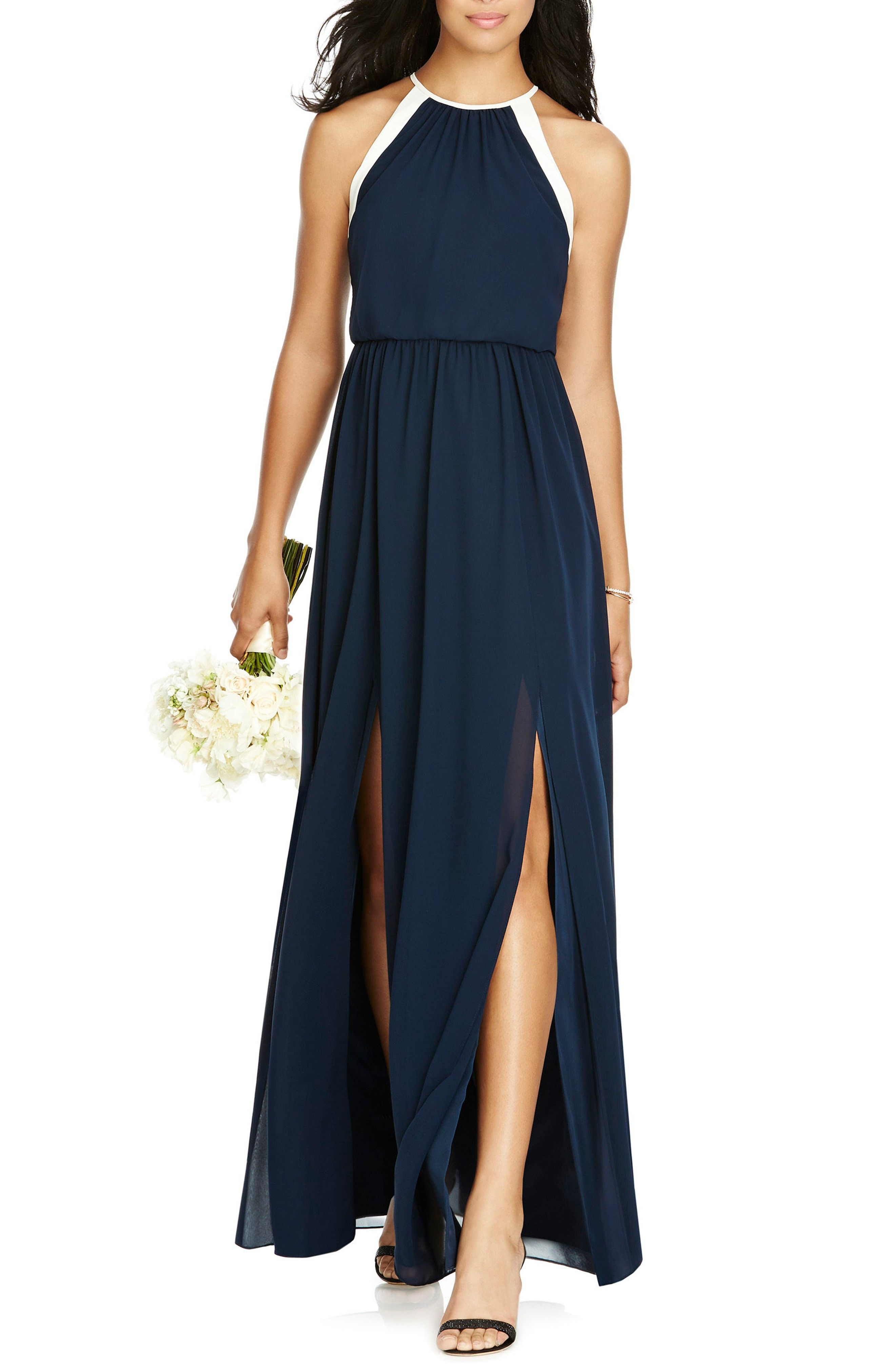 New social bridesmaids halter chiffon gown fashion online