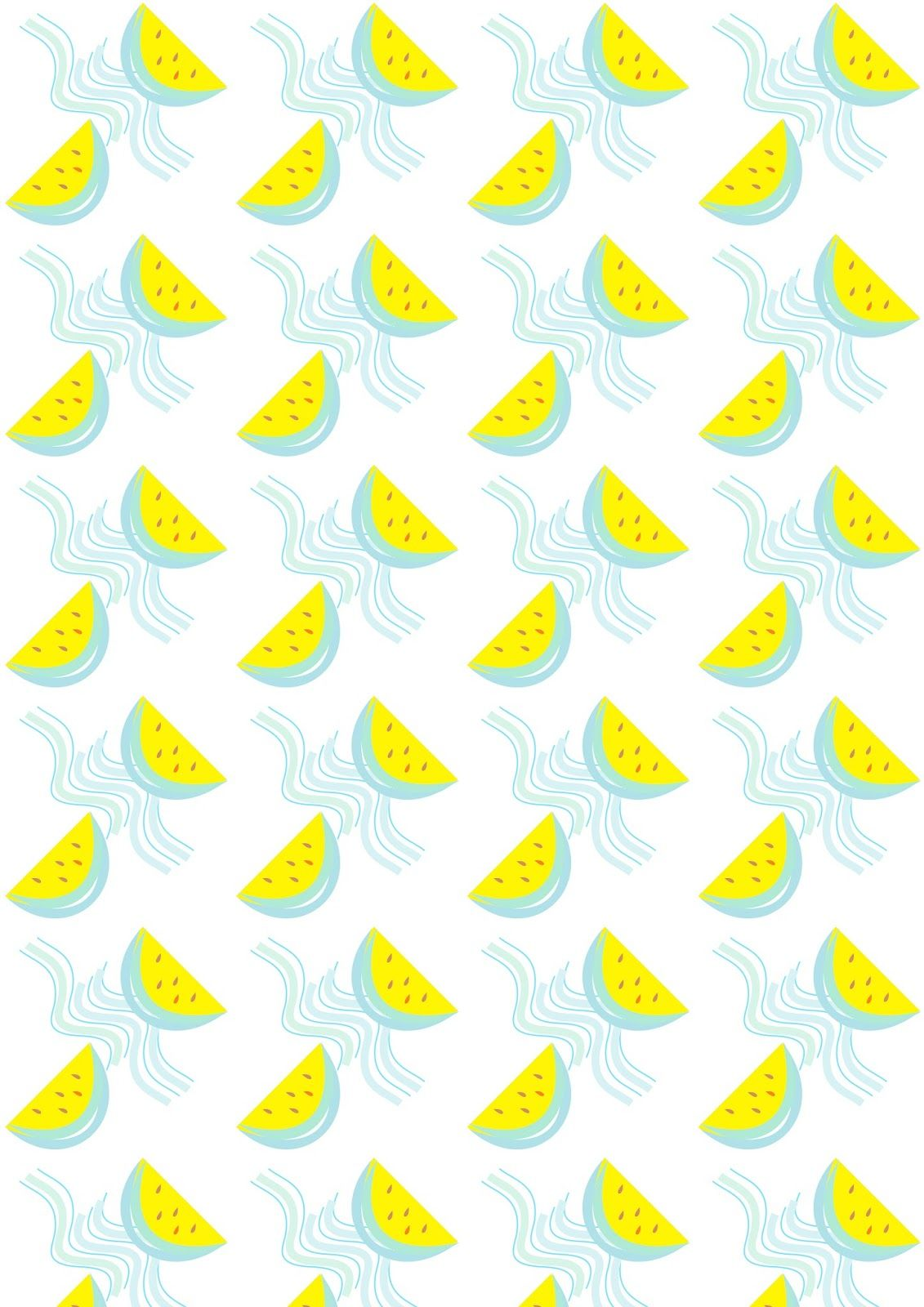 FREE printable watermelon pattern paper ^^ | mixtoo ❤ | Pinterest ...