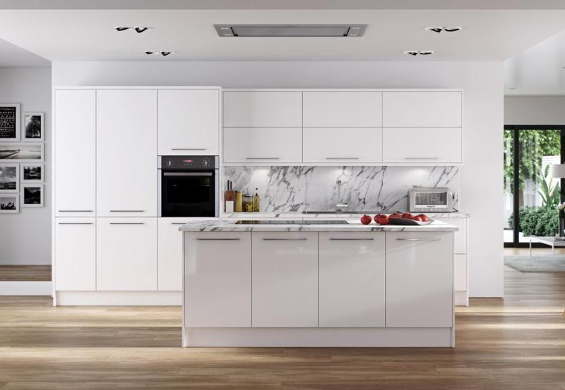 Hameldown White High Gloss Kitchen