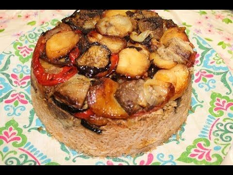 مقلوبة طريقة طبخ المقلوبة باللحم والخضار Maqlooba الشيف ام فراس Palestine Food Lebanese Recipes Food And Drink
